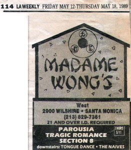Madame Wongs West Thurs. May 11, 1989