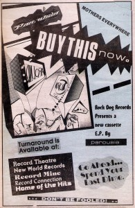 LA Reader Ad for 'Turnaround' EP. March 1988