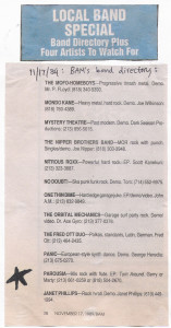 Bam Aug. 1989 - Bands to watch-out for.