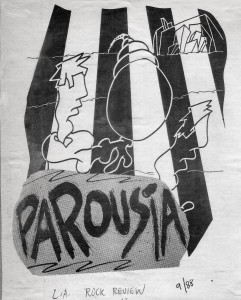 Parousia featured in LA Rock's magazine local band issue October 1988