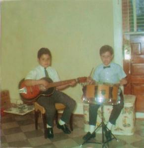 Barry & Gerry Cannizzaro Spring1968 at104 Baxter Street, Buffalo, NY
