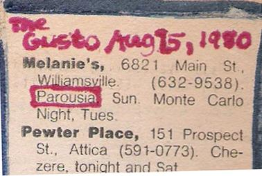 Buffalo Evening News 'Gusto' - Melanies 08.17.1980