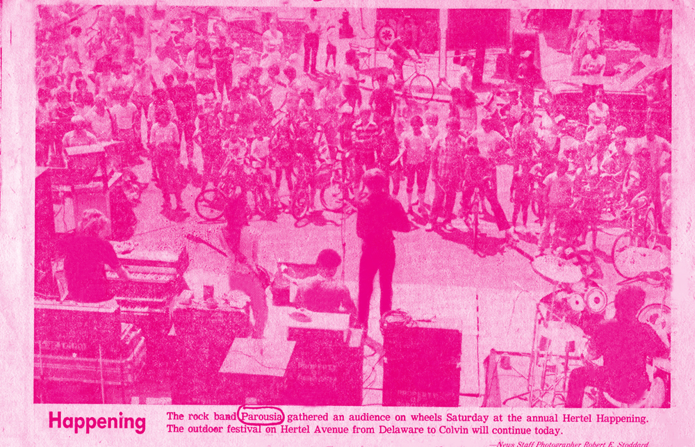 Buffalo Evening News – Parousia performs at the Hertel Happening 08.01.1981