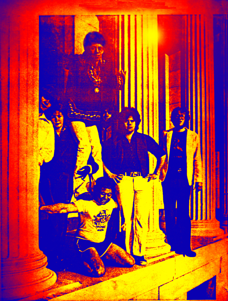 Parousia 1981: Patt Connolly, Kim Watts, Gerry & Barry Cannizzaro, Garth Huels, Eric Scheda, Bob Lowden