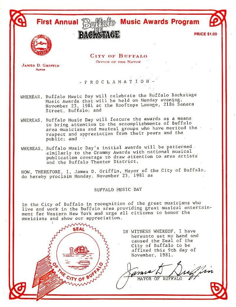 Buffalo Music Day Proclamation