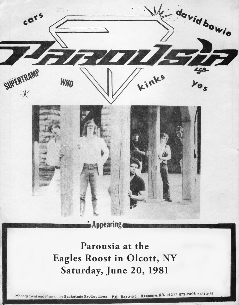 Parousia at the Eagle's Roost in Olcott Ny 1981 - Yipee!