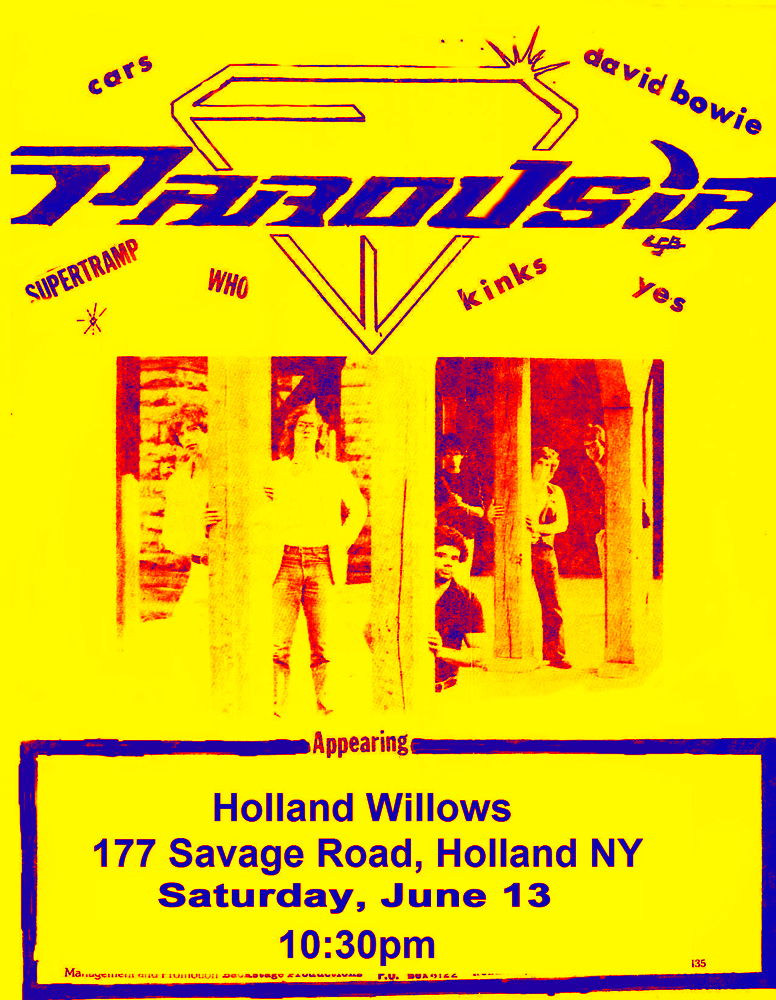 Parousia flyer - appearing at the Holland Willows June 13, 1981