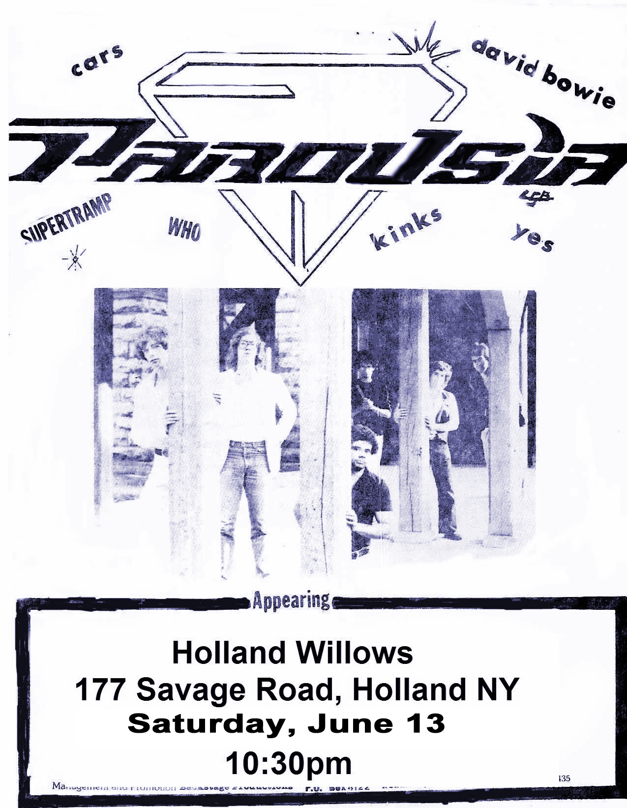 Buffalo 'appearing at' flyer copy