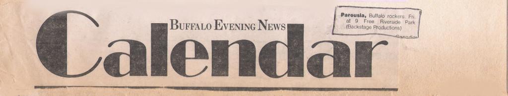 Buffao Evening News Calendar 1981