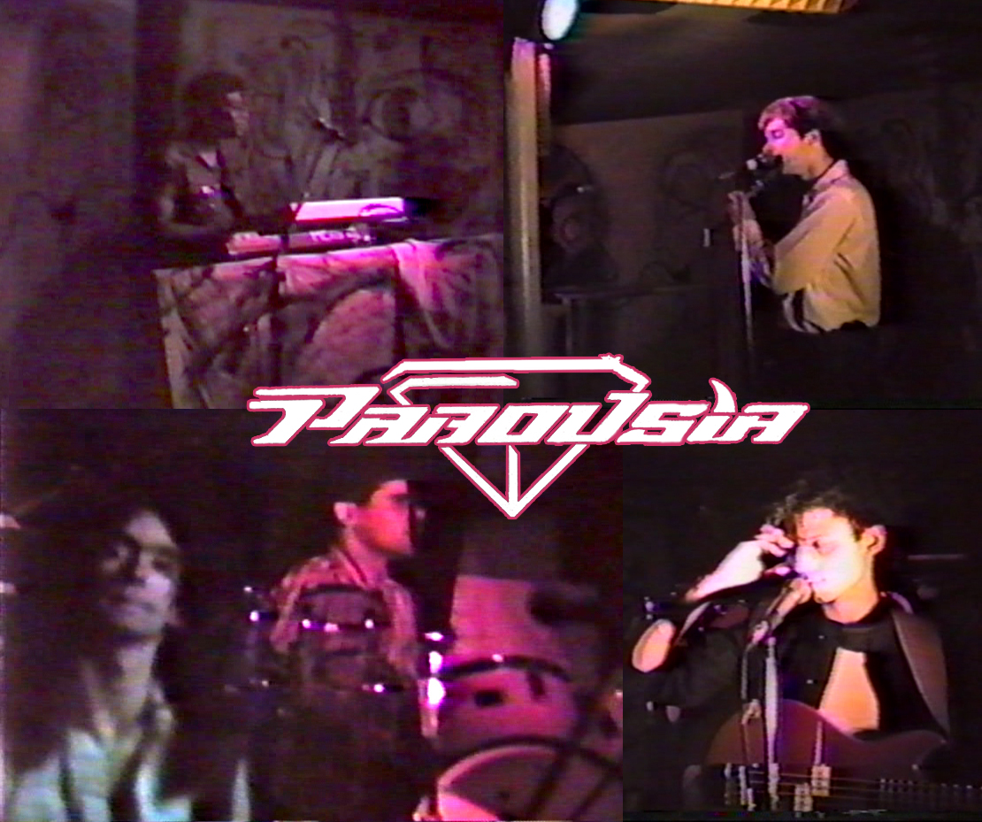 PAROUSIA 1986: Bill Simms (keyboards); Patt Connolly (vocals/flute); Garth Huels (guitar/vocals); Gerry North Cannizzaro (drums); Robert Lowden (bass/guitar/vocals)