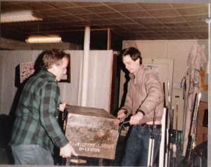 Colin Hilborne & friend loading & Packing for Broadway Joe's Gig.