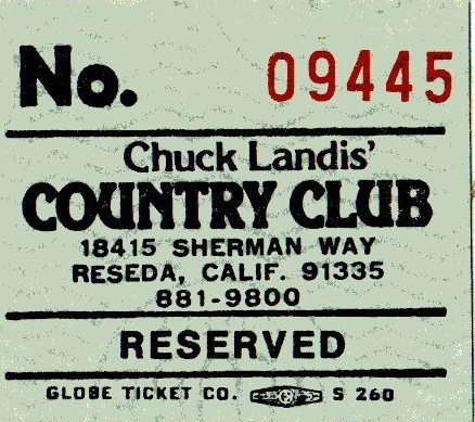 Country Club Admission Ticket