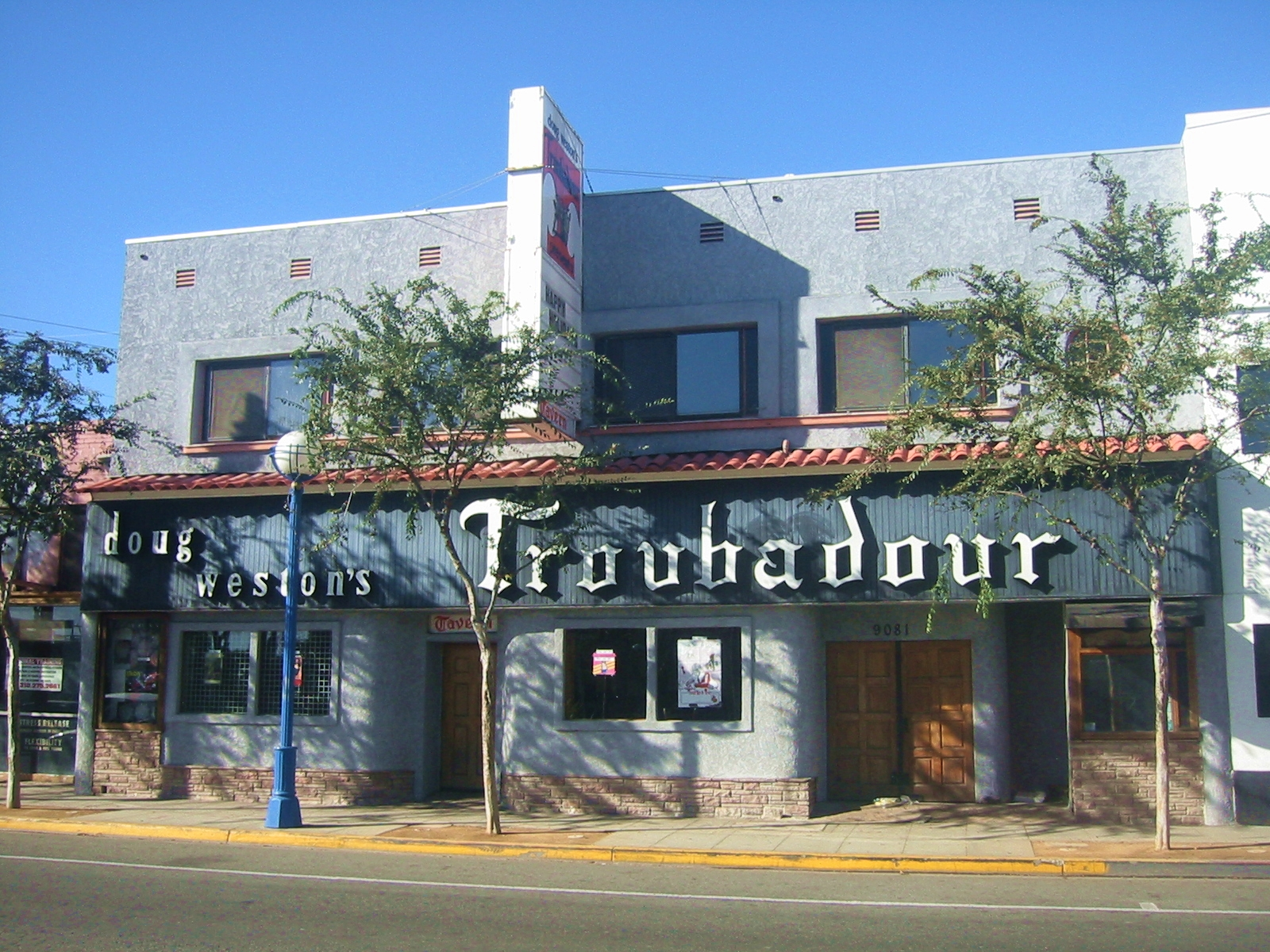 Doug Weston's Troubadour 9081 Santa Monica Blvd. W. Hollywood,  CA