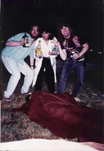 Eric Scheda, Gerry Cannizzaro and Wild Bill at 1819 N. Berendo, Los Angeles, CA, 01/10/1992