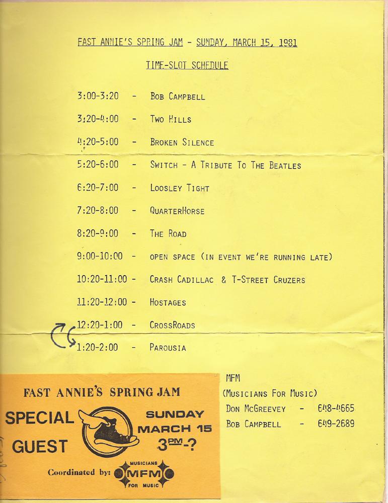 Fast Annie's 03-15-81