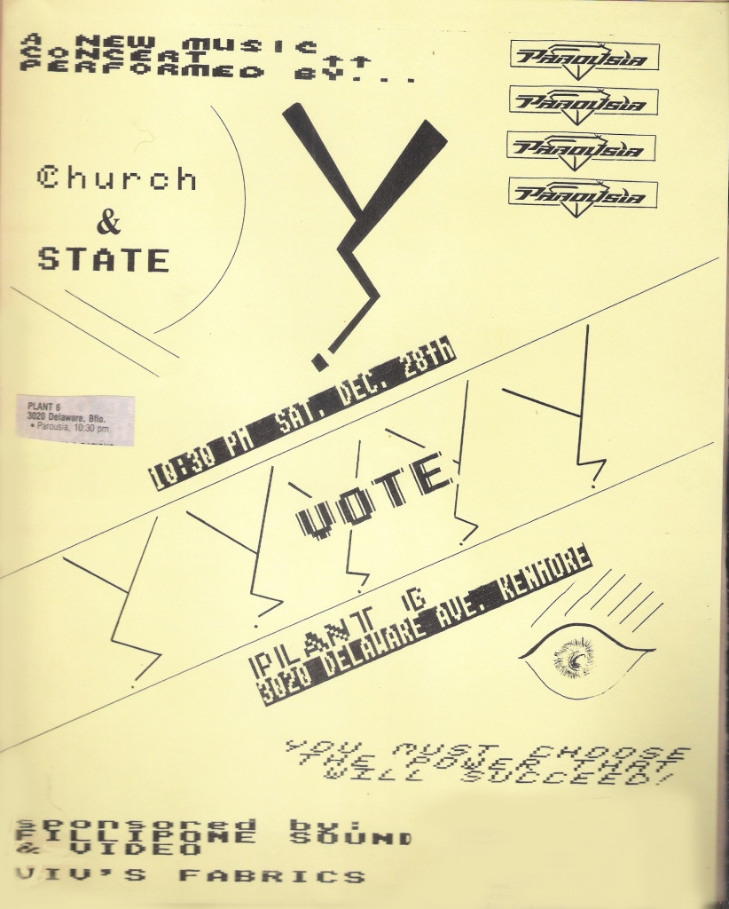 Flyer - Plant 6 - 'Church & State' 12.28.1985