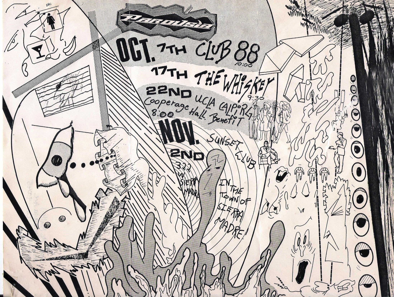 Parousia at Club 88. October 7, 1988 – flyer by Robert Stuart Lowden