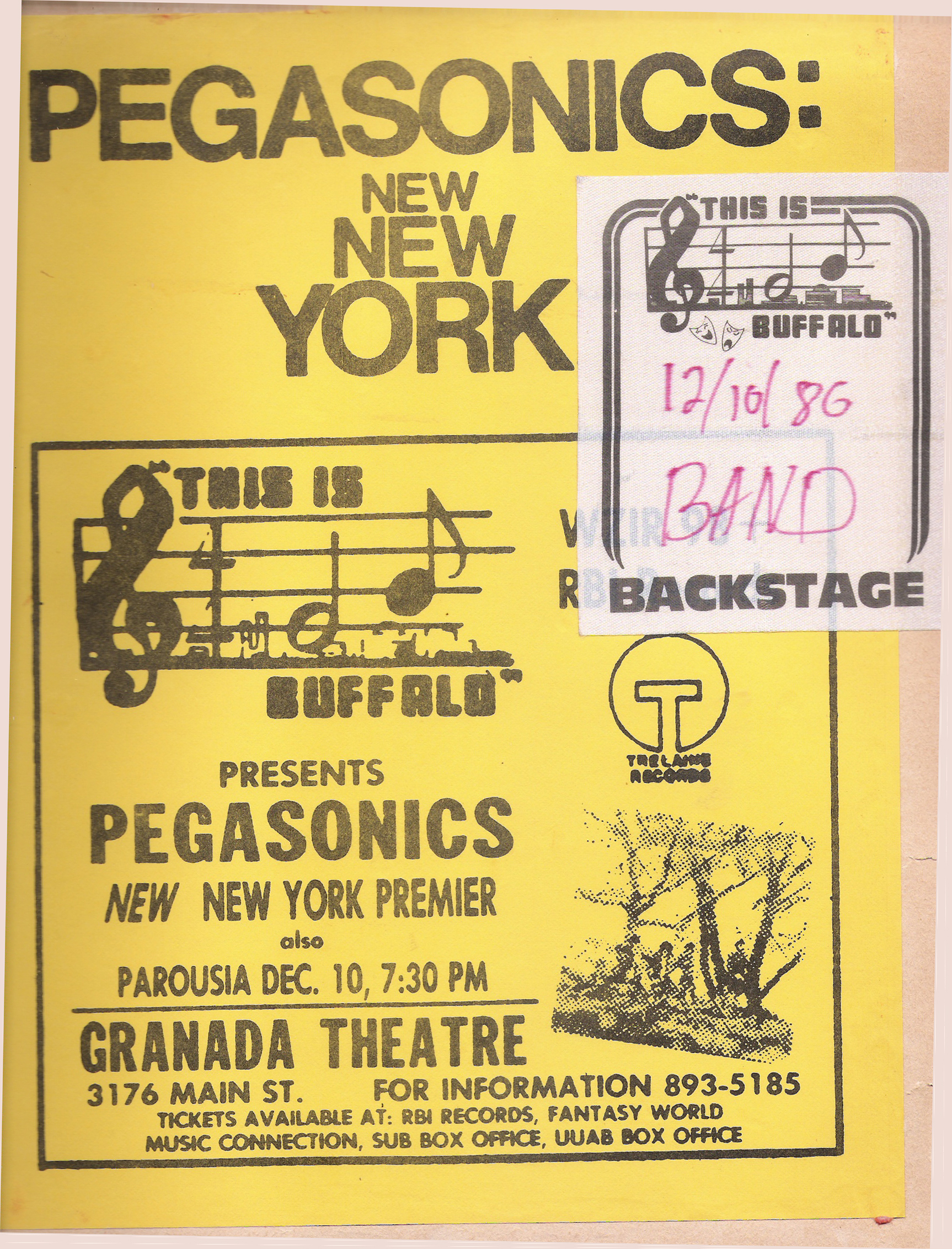 Granada Theater w Pegasonics Flyer 12.10.1980