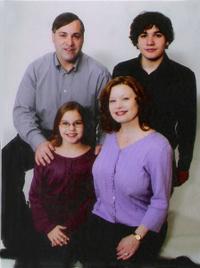 The Filippone family 2012; Gregg, Robin, Andrew and Haley