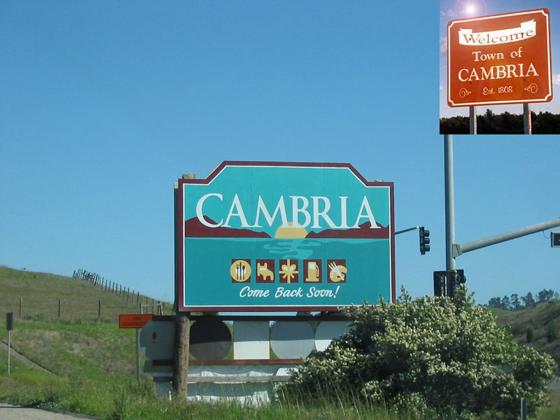 The Cambria NY town line, where you don't know whether you're coming or going!
