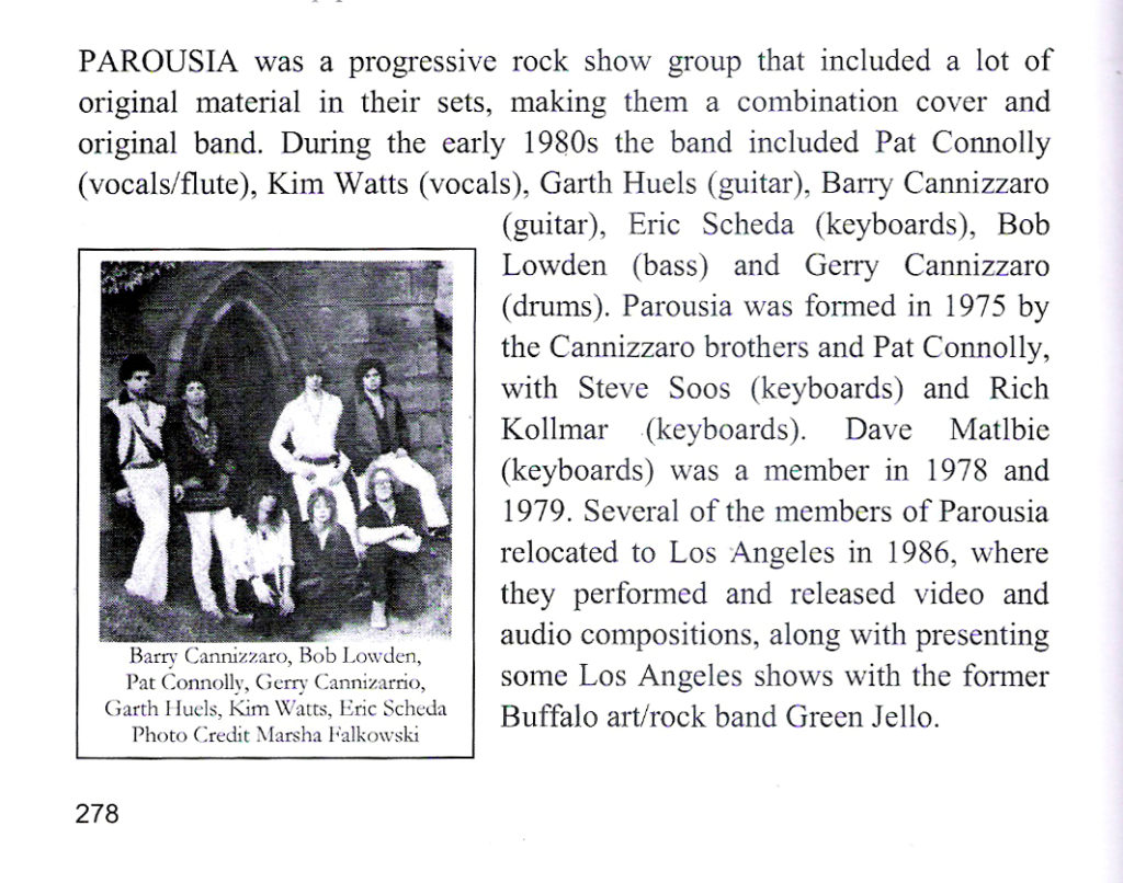 History of Buffalo Music and Entertainment PG. 278