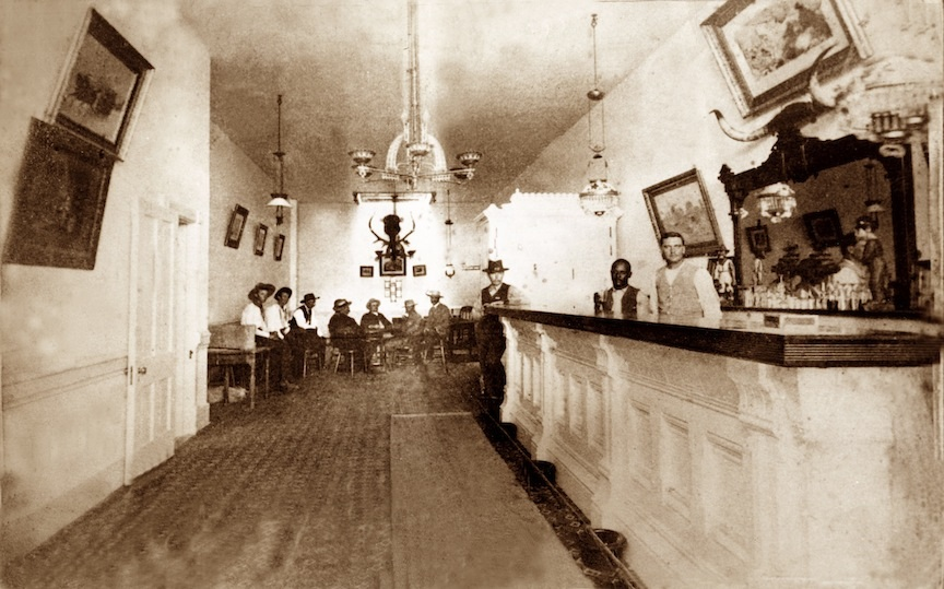 Inside the real Long Branch Saloon in Dodge City, Kansas, 1800's