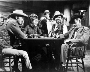 Inside the fictitious Long Branch Saloon from the TV series Gunsmoke