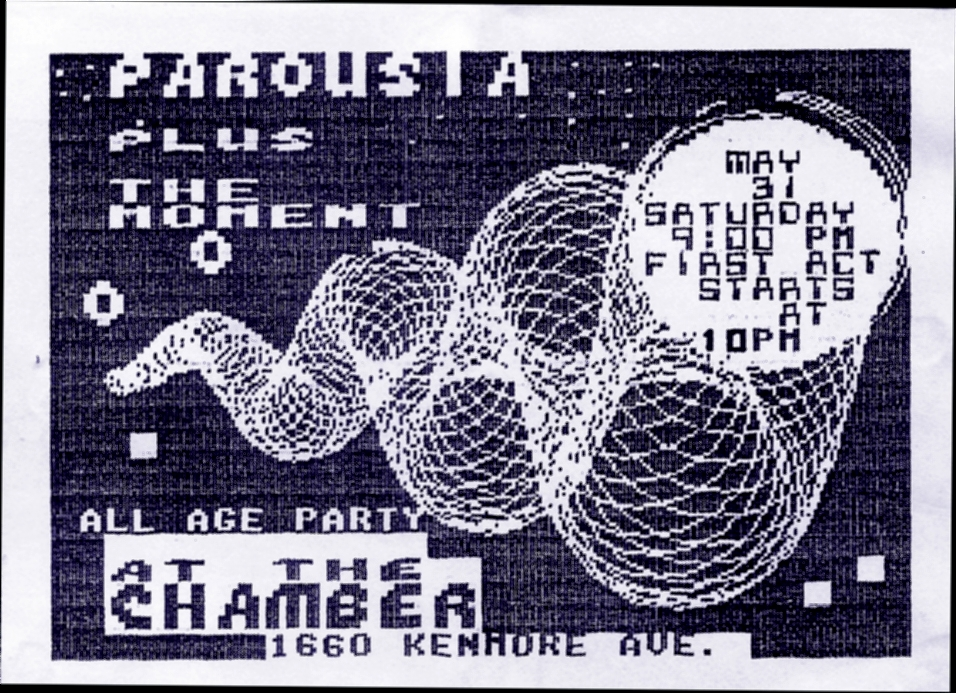 Invite card - the CHAMBER 05.31.1986