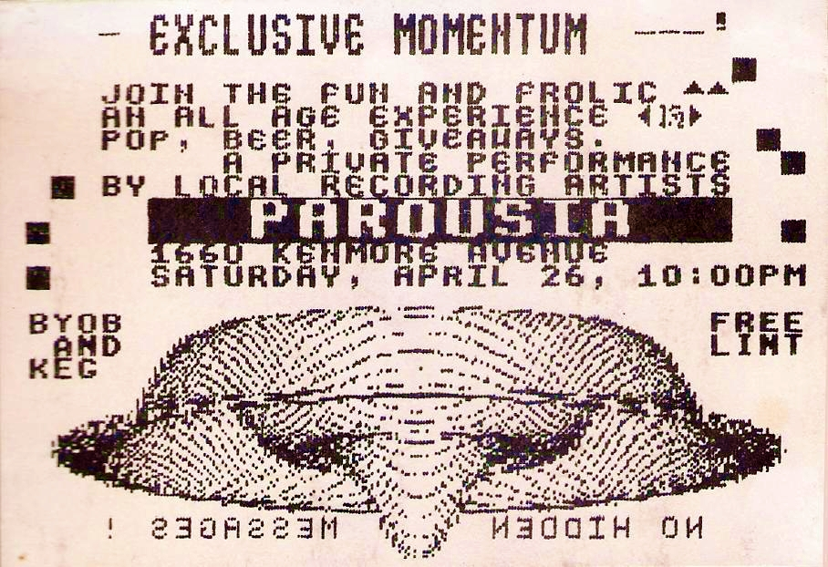 Invite card. the Chamber 'Exclusive Momentum' - 4.26.1986