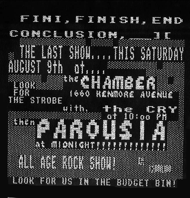Invite - the CHAMBER 08.09.1986