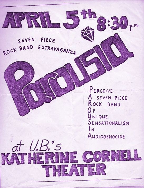 Parousia at the Katharine Cornell Theater April 5, 1979