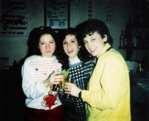 Sharon (left) and Kim Montesano (far right) & Friend 1986