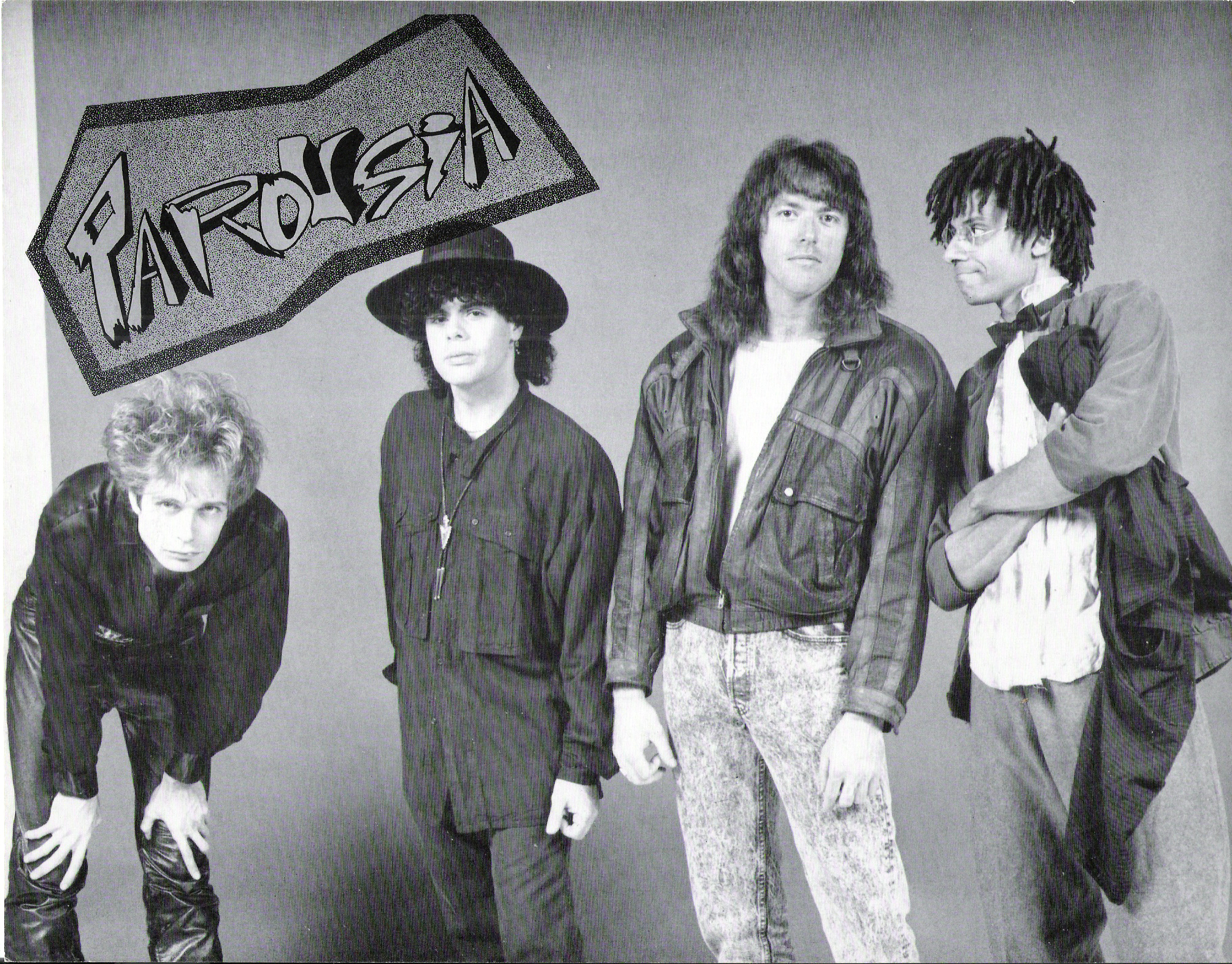 Parousia 1989: Patt Connolly, Gerry Cannizzaro, Marty Leggett, Robert Lowden