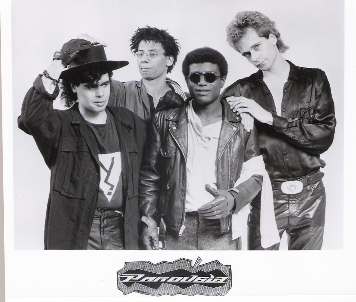 PAROUSIA 1988: Gerry North Cannizzaro (drums); Robert Stuart Lowden (vocals/guitars); Bill 'Frank' Simms (keyboard/bass); Patt Connolly (flute/vocals).