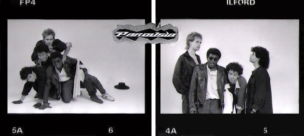 Parousia 1988: Patt Connolly (vocals/flute), Robert Lowden (guitars), Bill Simms (keyboards) and Gerry Cannizzaro (drums)
