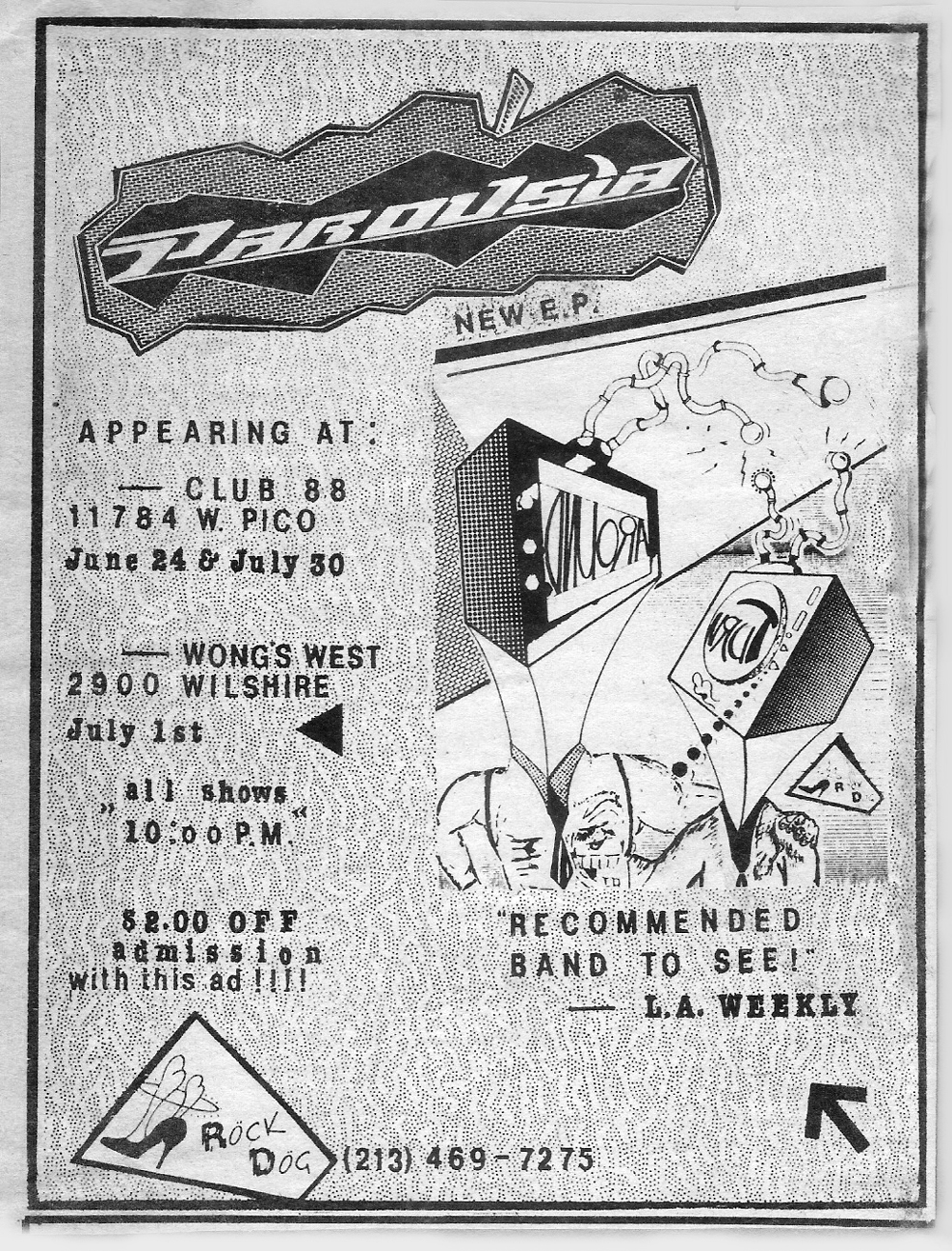 LA Weekly ad - Club 88 - June 24 & July 30, 1988
