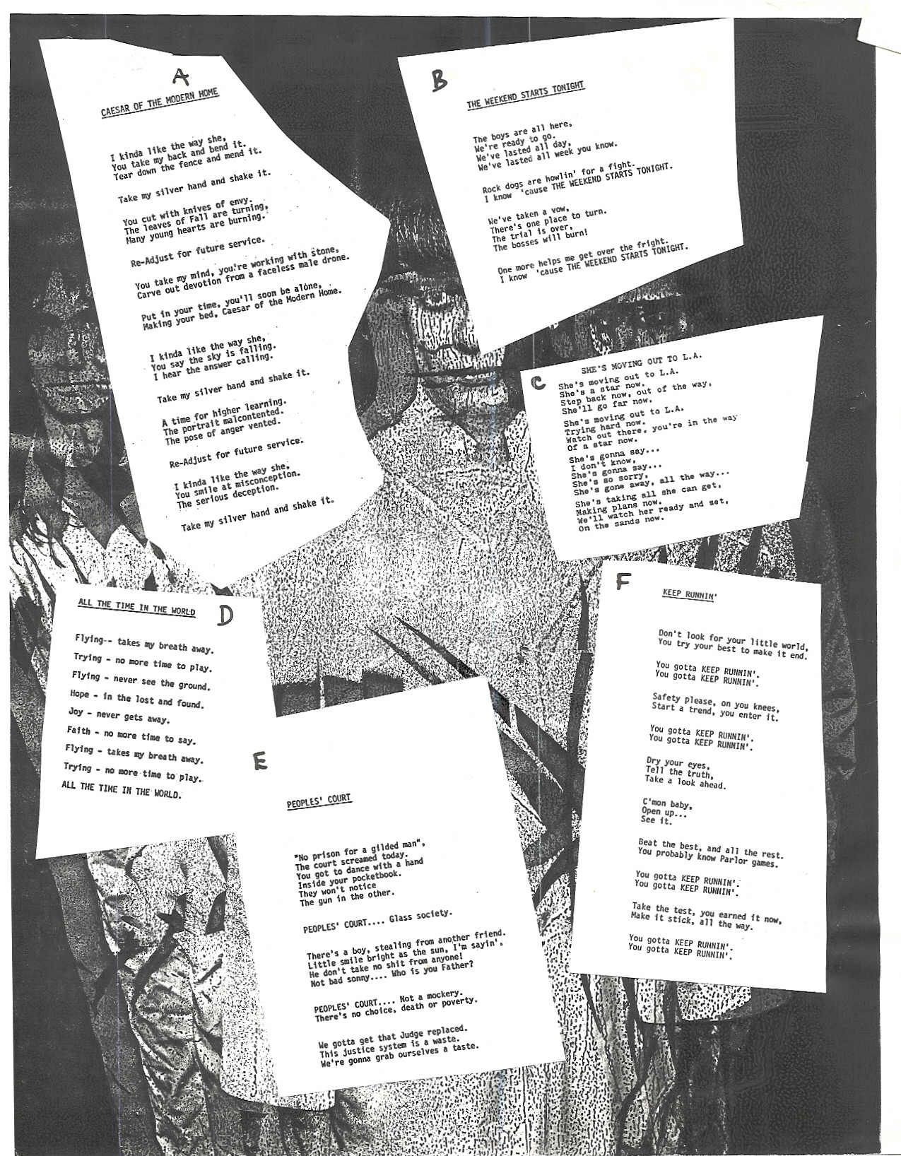 Lyric Sheet - The Loft Studio Recordings, Parousia