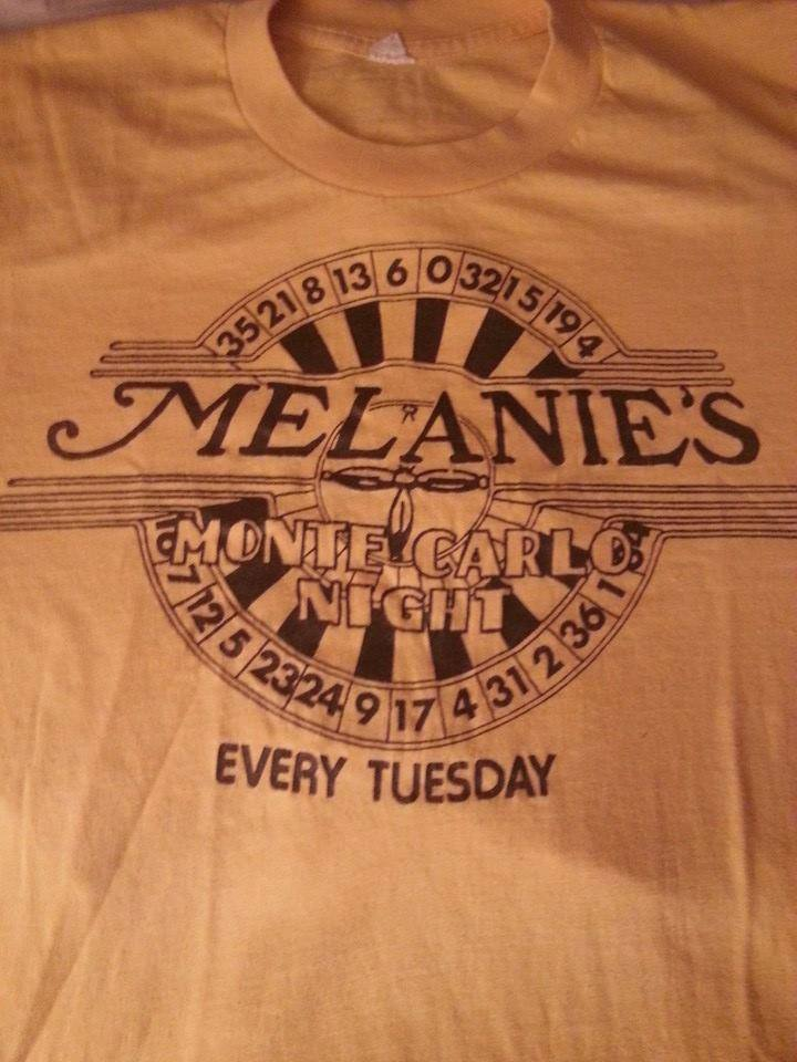 Melanie's Pub T-Shirt - Home of Monte Carlo Night and Parousia Parties