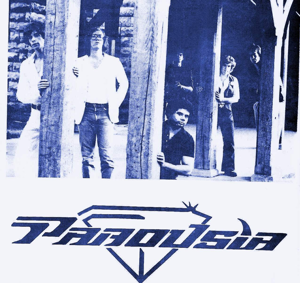 Parousia 1981: Patt Connolly, Eric Scheda, Barry Cannizzaro, Robert Lowden, Gerry Cannizzaro, Garth Huels
