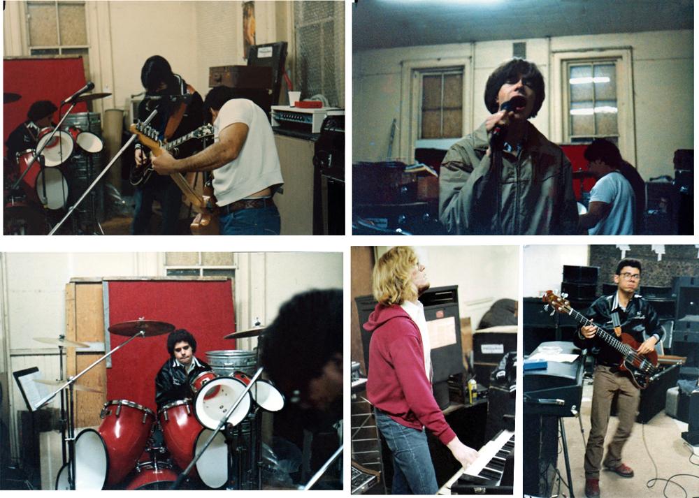 Parousia rehearsing at The Music Mall, Cheektowaga, NY. 1982