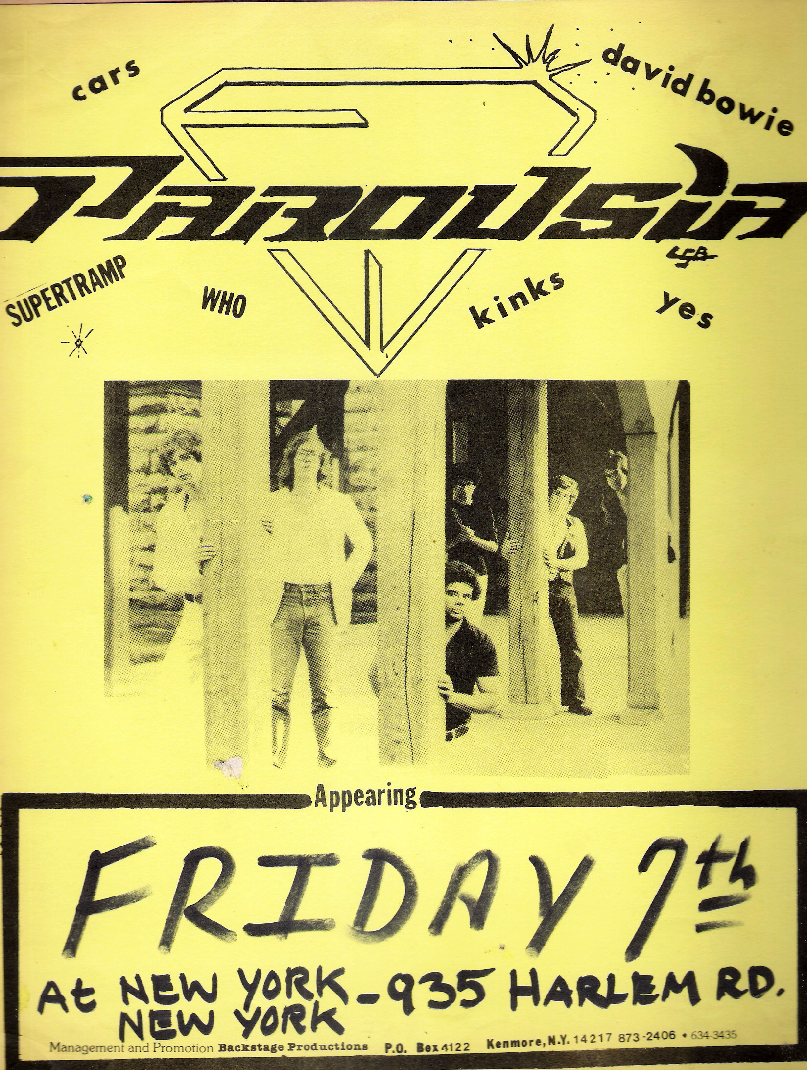 Parousia at New York New York, Friday August 7th, 1981