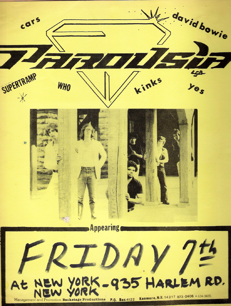 PAROUSIA appearing at New York New York on Friday, August 7, 1981