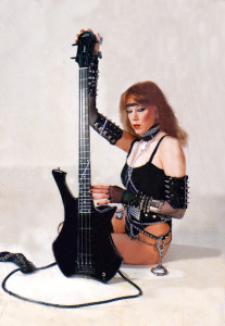 Nicole Ashley as Ms. Heavy Metal in Zon Guitars Promo