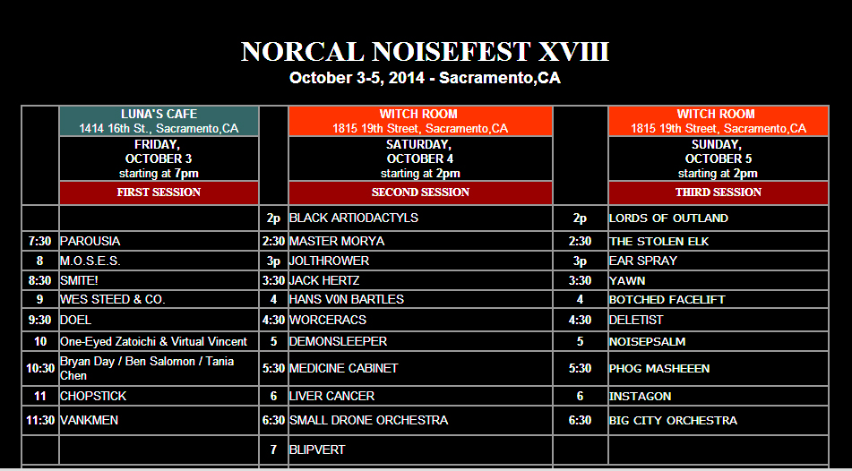 NorCal 2014 noisefest XVIII