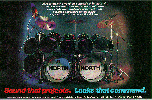 Ad for Gerry North's Signature Drum Series