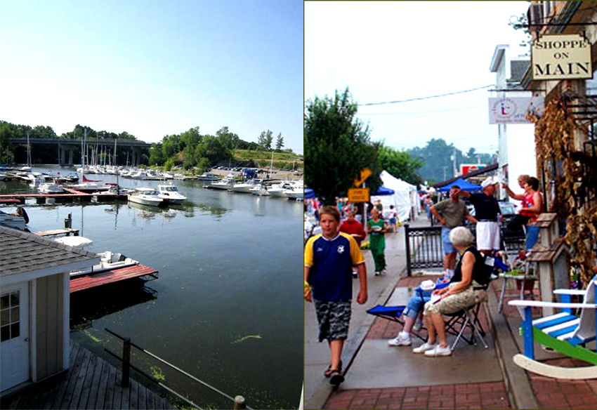 Olcott Harbor's Lakeview Village - A fun place to shop, eat and be entertained but DON'T drink outdoors!