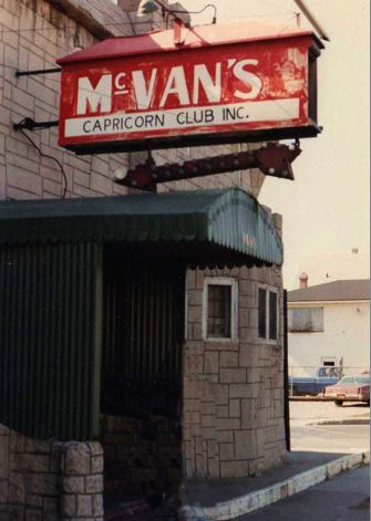 Where it all went down - McVan's!