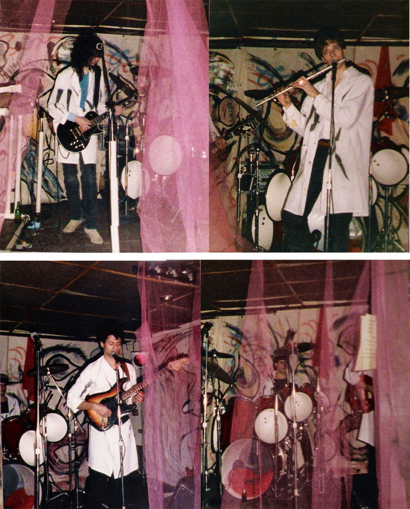 PAROUSIA 1986: Garth Huels (guitar/vocal); Patt Connolly (vocal/keys/flute); Bob Lowden (vocal/guitar/bass); Gerry N. Cannizzaro (drums)