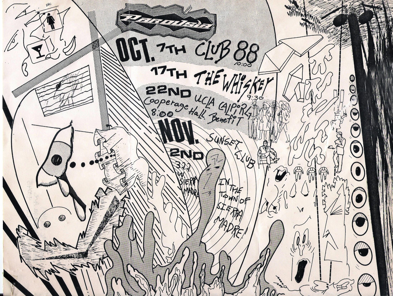 Parousia flyer – UCLA Cooperage Hall, Saturday October 22, 1988.