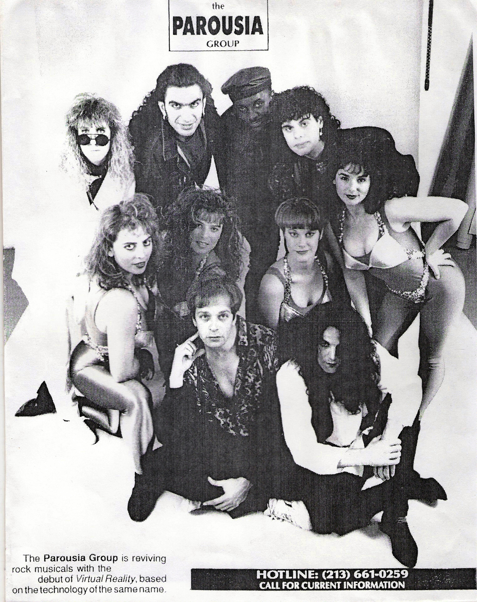 Parousia Group reviving rock musicals 1991